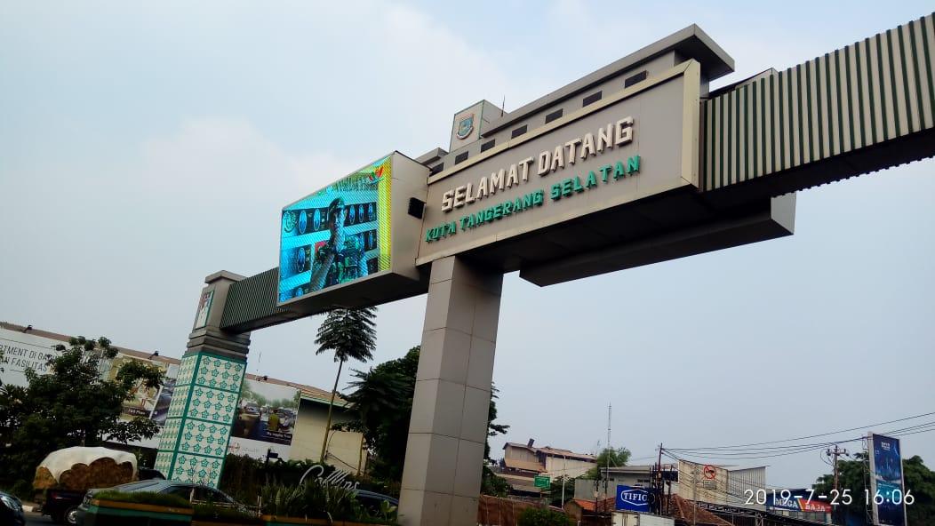 Tapal Batas Tangerang Selatan dan Kota Tangerang